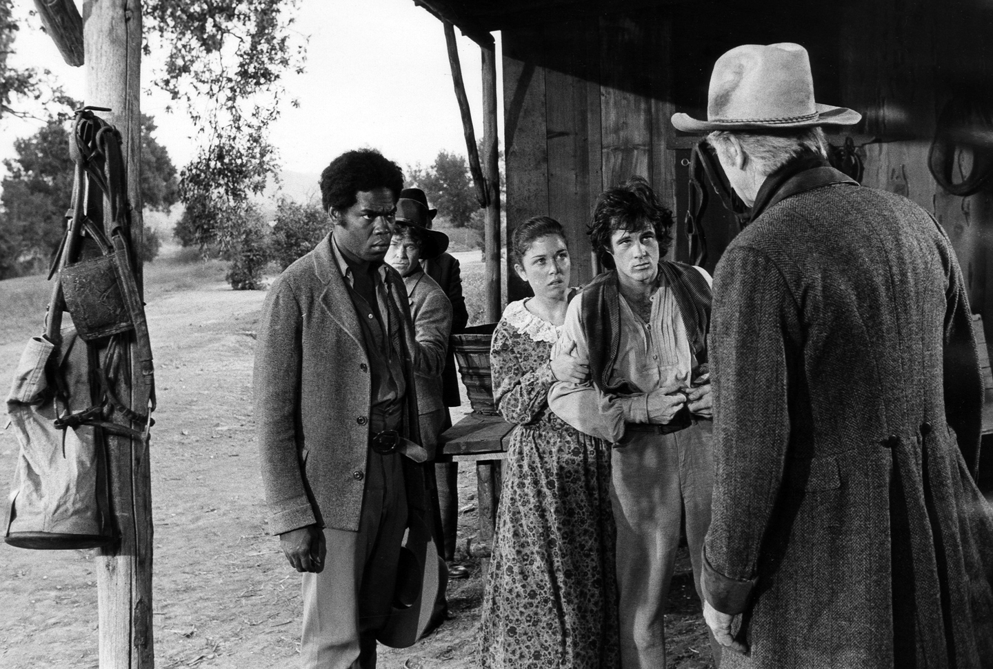 ROOTS - Airdate January 23, 1977. GEORGE STANFORD BROWN; LANE BINKLEY; BRAD DAVIS; LLOYD BRIDGES