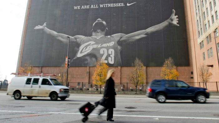 LeBron Nike Mural