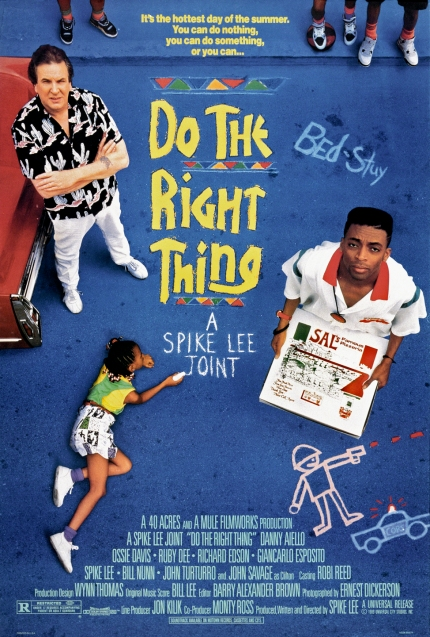 One sheet movie poster advertises 'Do the Right Thing' (Universal Pictures), director Spike Lee's drama.