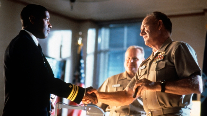 Denzel Washington, Gene Hackman and George Dzundza in Crimson Tide
