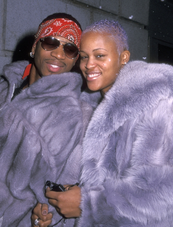 Music producer Stevie J and rapper Eve attend the New York Fall 2000 Fashion Week: Tommy Hilfiger Fashion Show on February 4, 2000 at Manhattan Center in New York City.