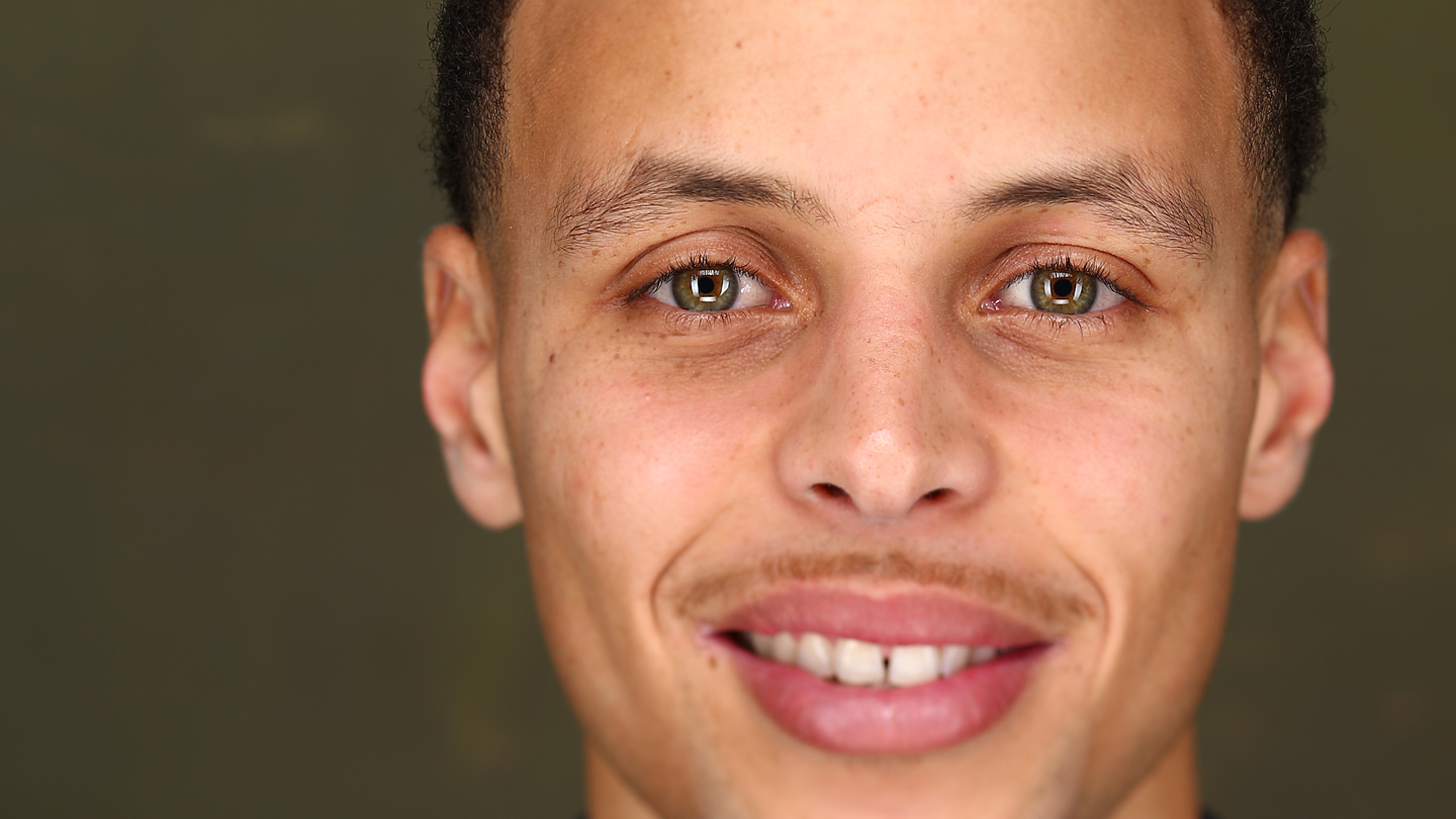 Stephen Curry of the Golden State Warriors poses for portraits as part of 2015 All-Star Weekend at in New York, New York.