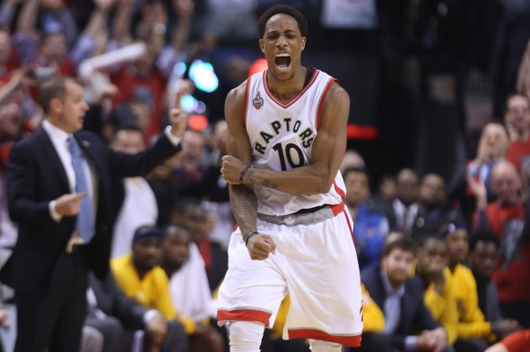 Toronto Raptors beat Indiana Pacers in game five 102-99 in their first round NBA playoff series