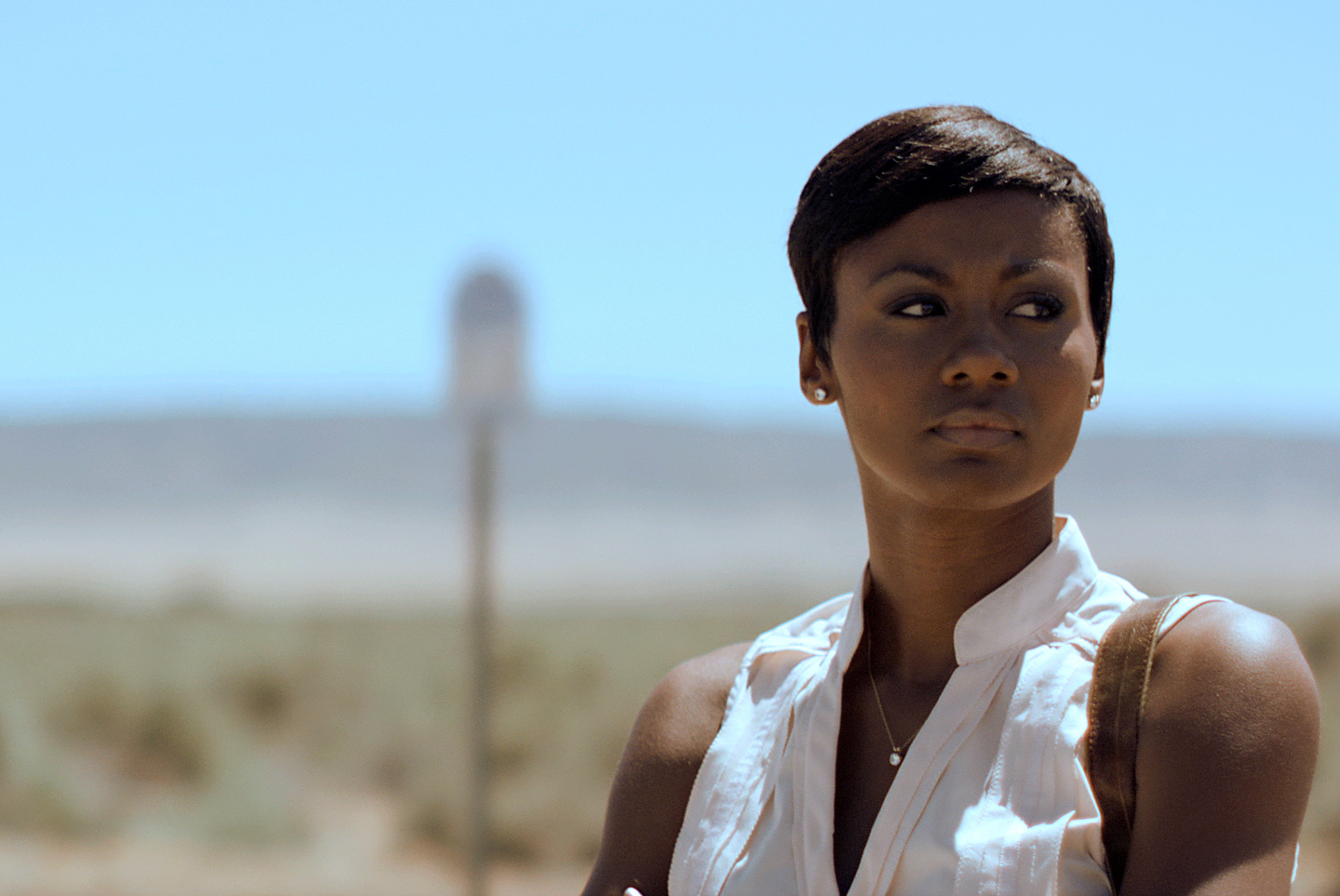 "Emayatzy Corinealdi in the movie ""Middle of Nowhere"""