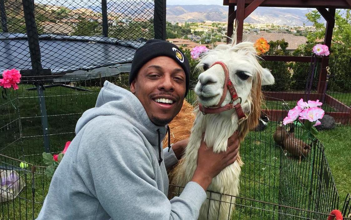 Paul Pierce and llama