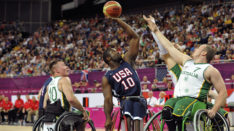 Paralympics: Wheelchair Basketball-Men's Prelim-AUS vs USA