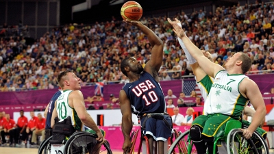 Paralympics: Wheelchair Basketball-Men's Prelim-AUS vs USA
