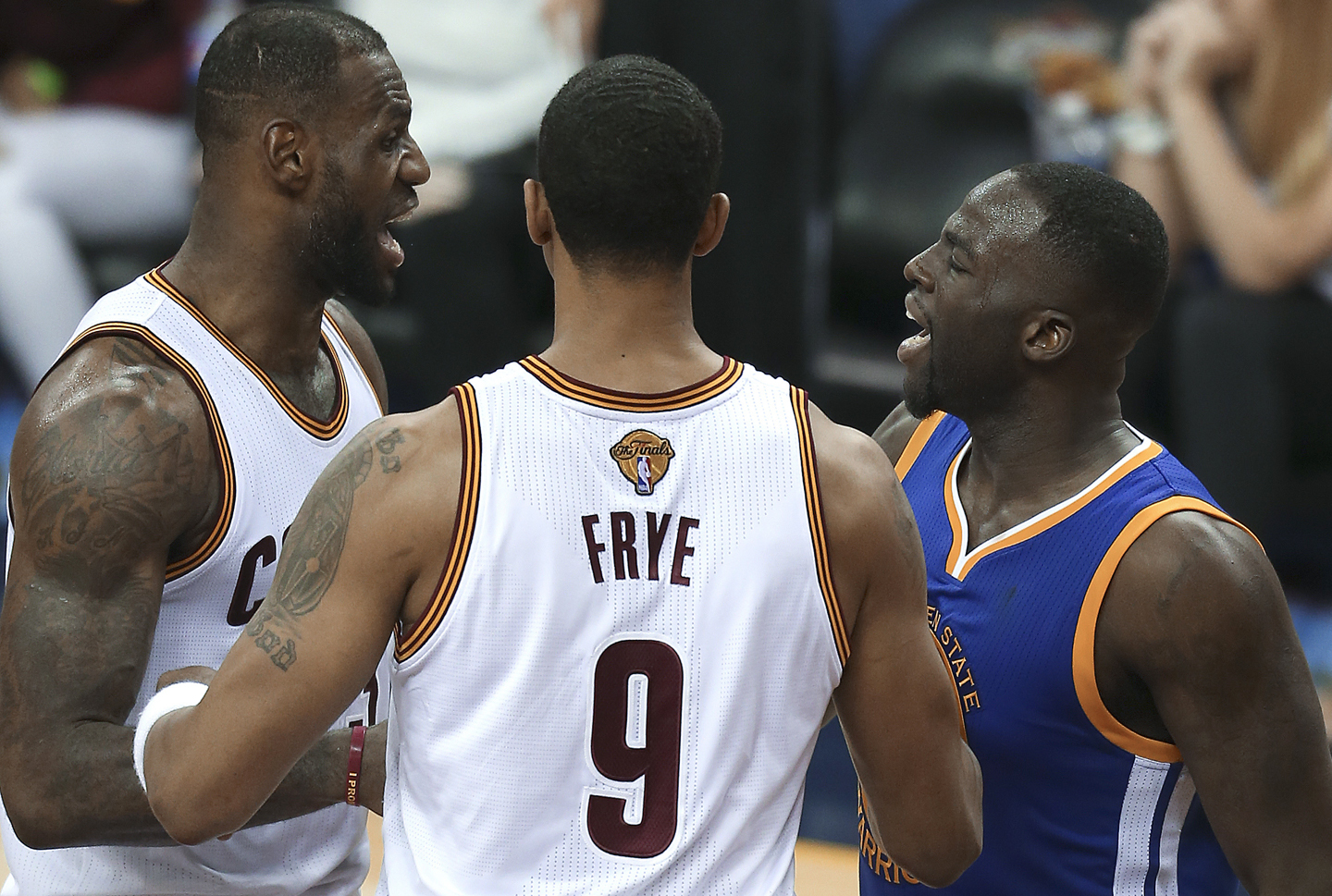 8740eefda6eb On this day in NBA Finals history: Draymond Green's altercation with LeBron  James triggers Game 5 suspension