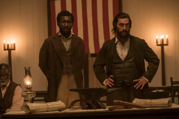 Mahershala Ali and Matthew McConaughey in Free State of Jones.