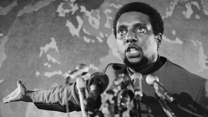 Political Leader Stokely Carmichael Giving Speech