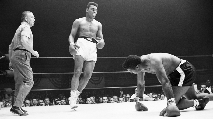 Muhammad Ali and Floyd Patterson in the Boxing Ring