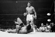 Boxers Muhammad Ali and Sonny Liston Fighting