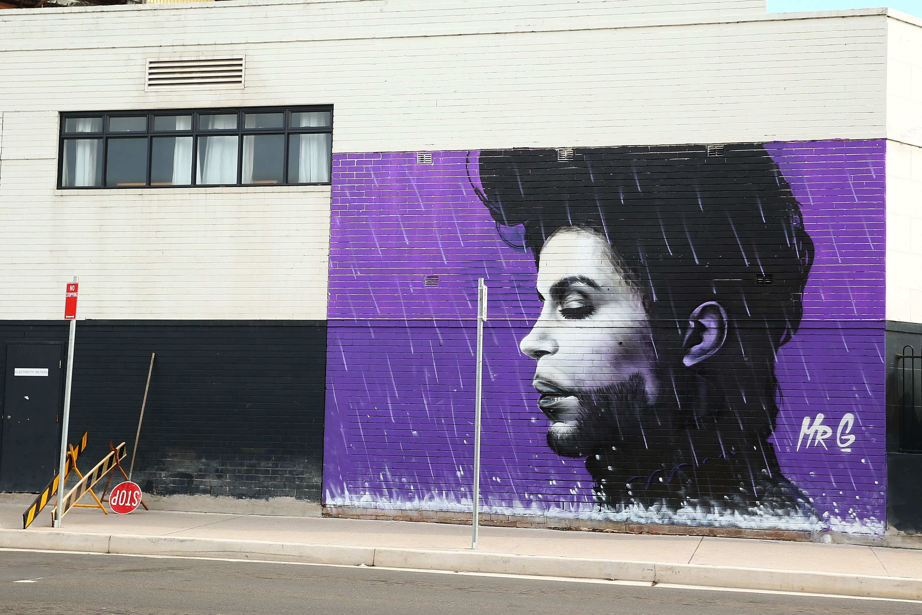 Australian Artist Pays Tribute To Prince With Giant Mural In Sydney