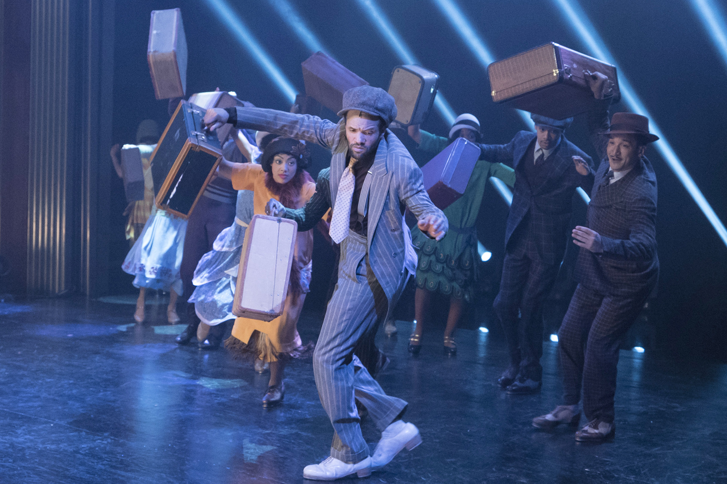 "The cast of the Broadway musical ""Shuffle Along"" featuring Savion Glover performs ""Pennsylvania Graveyard Shuffle"" on May 31, 2016"