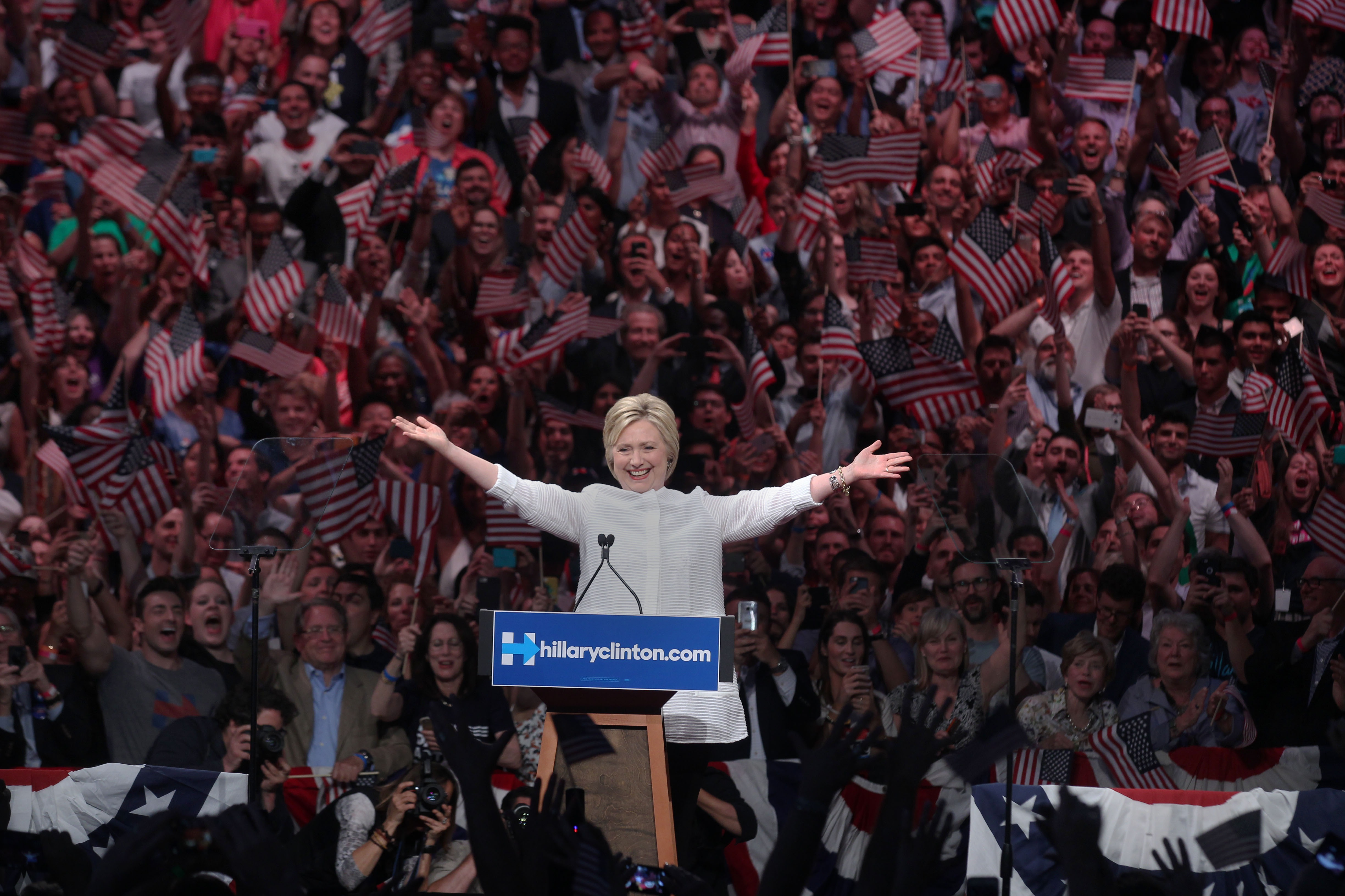 Hillary Clinton Holds Primary Rally In Brooklyn
