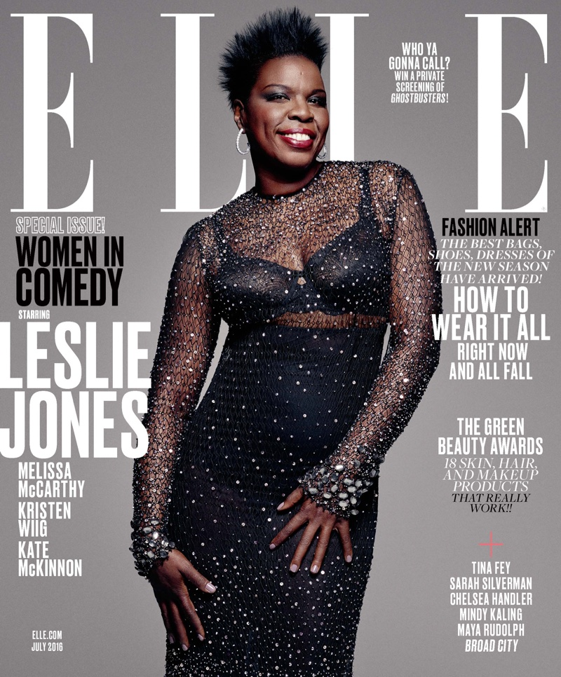 Leslie-Jones-ELLE-Magazine-July-2016-Cover