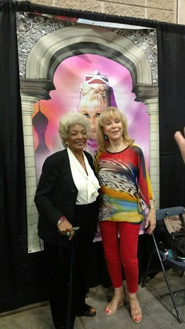 Nichelle Nichols and Barbara Eden