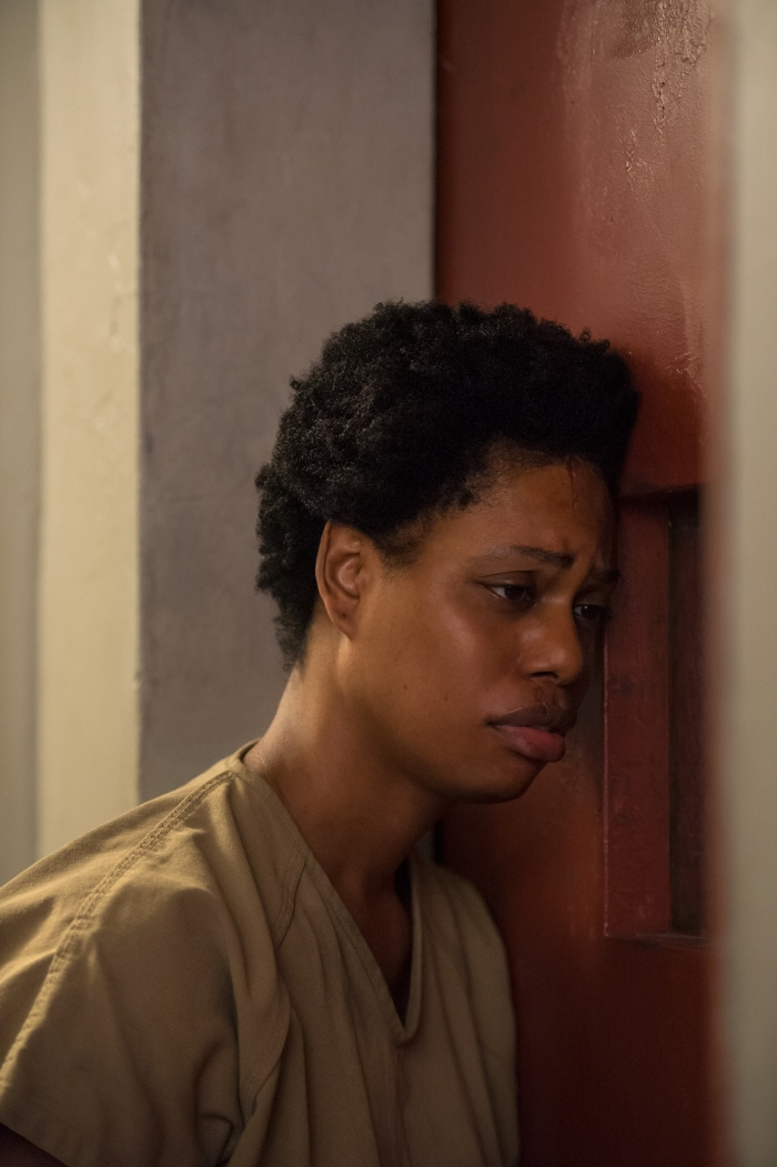 Laverne Cox as Sophia Burset, the prisoner who's been housed indefinitely in solitary confinement.