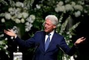 Former U.S. President Bill Clinton speaks at a memorial service for the late boxer Muhammad Ali in Louisville, Kentucky
