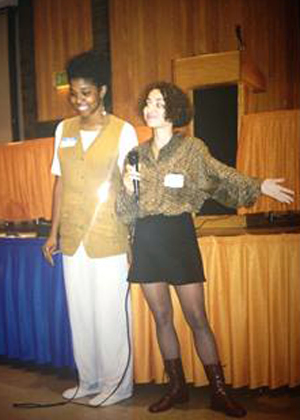 Dr. Tia Tyree (right) and Dr. Dionne C. Clemons during their undergraduate years at Howard University.
