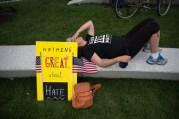 Protestors at Public Square in Cleveland