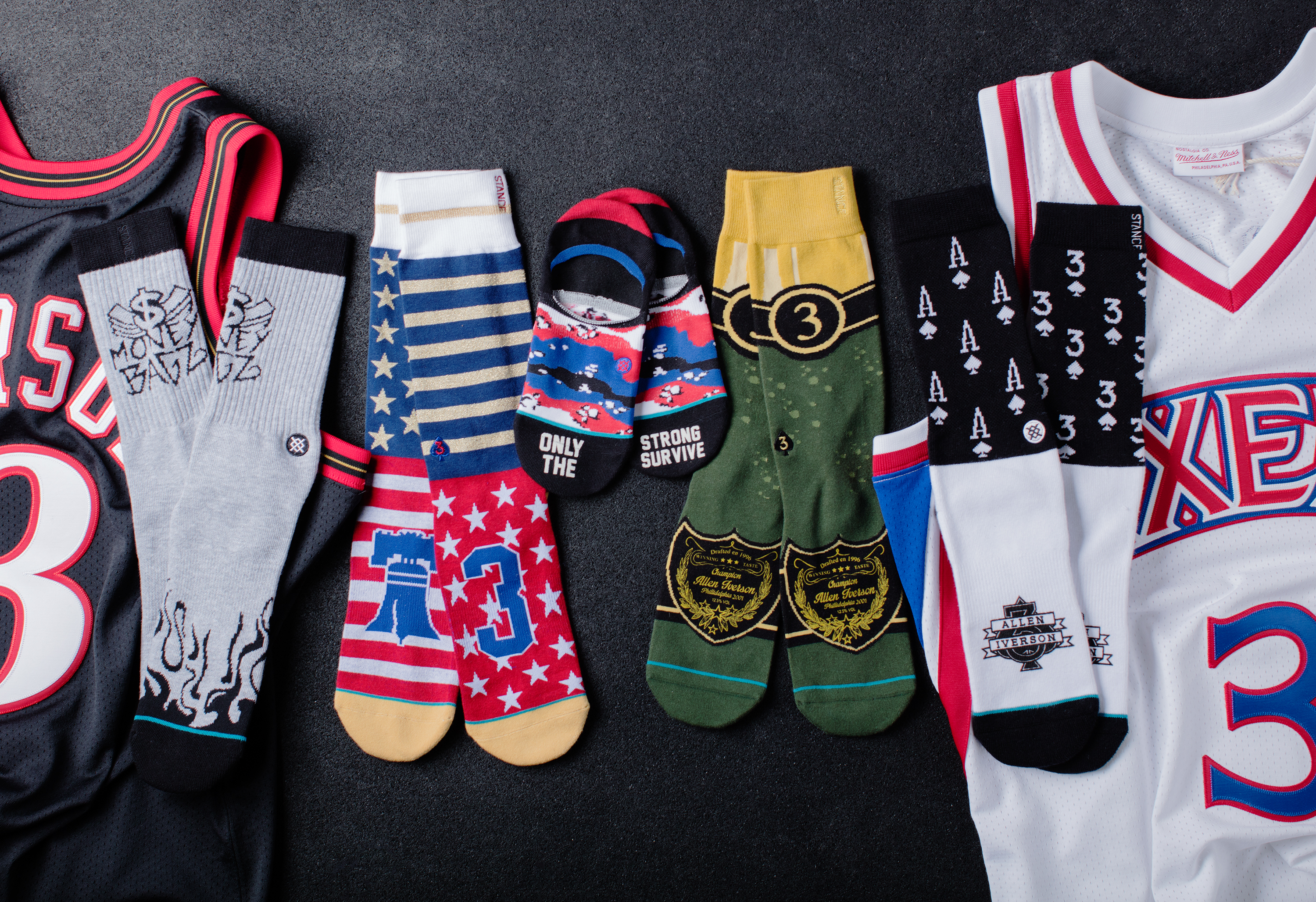 d10f973c37b505 The definitive power ranking of Allen Iverson s new sock collection