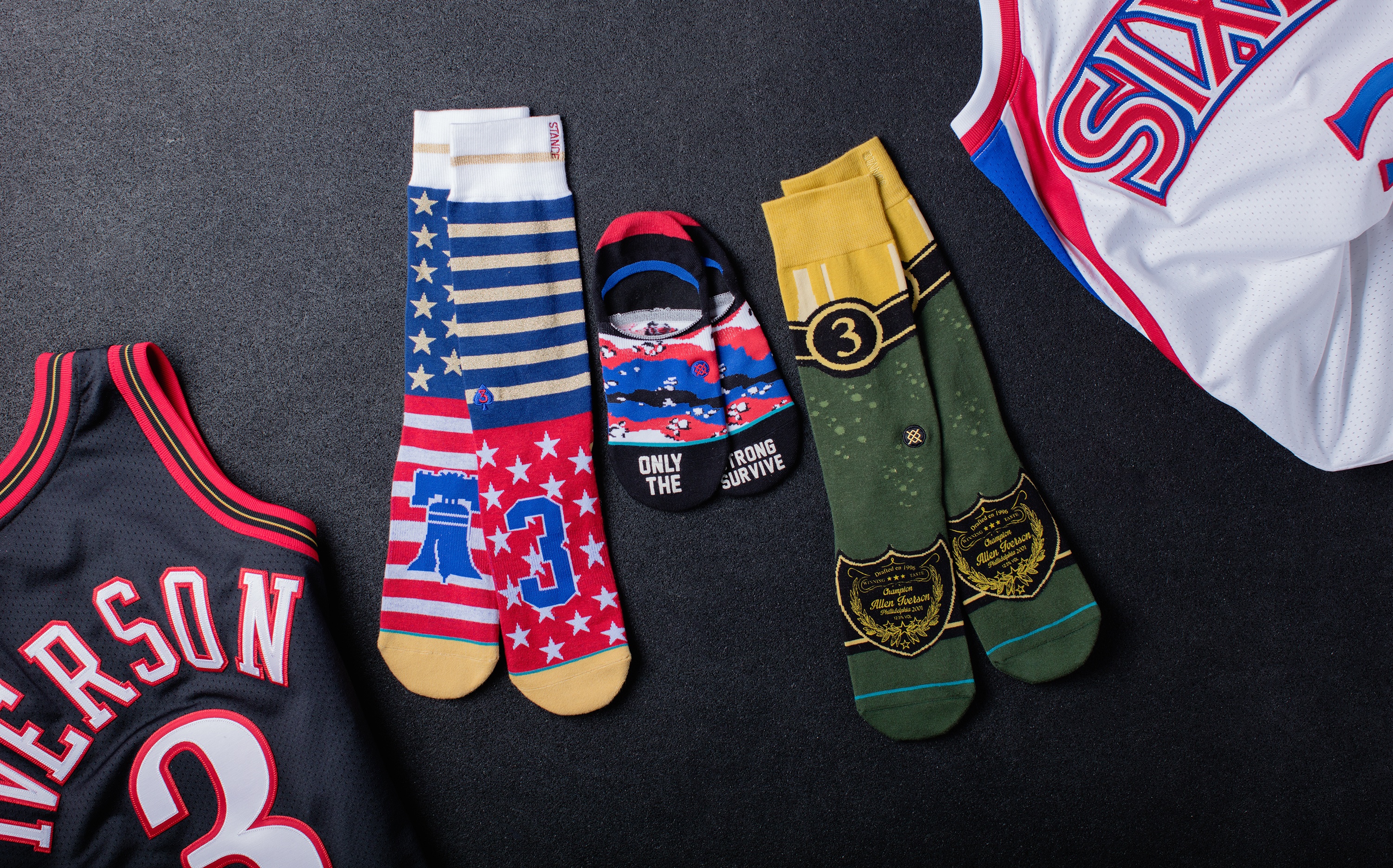 4016d8ce5c8af7 The definitive power ranking of Allen Iverson s new sock collection