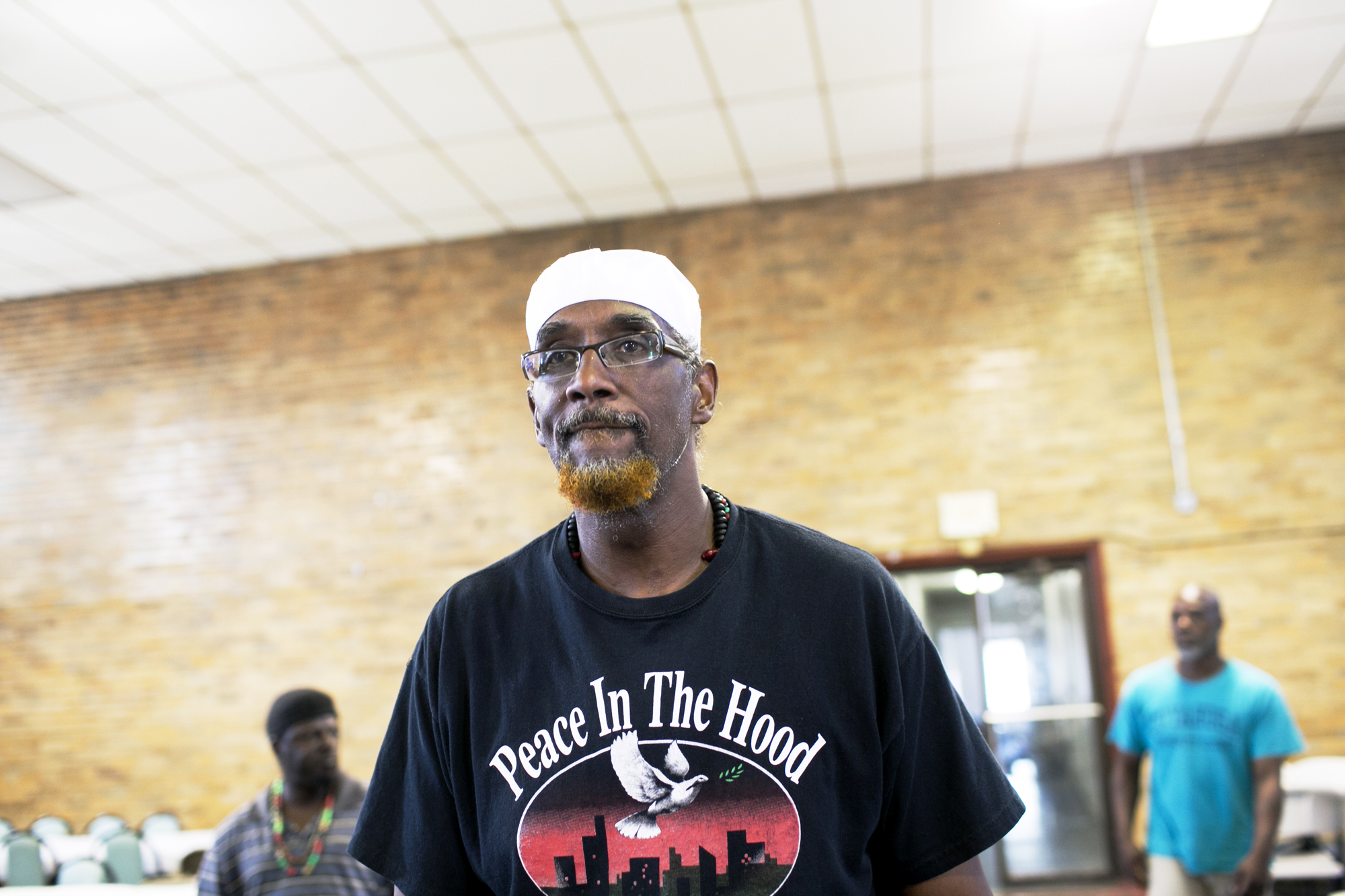 Khalid Samad stands in Masonic Hall in Cleveland, OH on Tuesday, July 19, 2016. Samad is a founder of Peace in the Hood, a youth violence, prevention, intervention and educational program that promotes personal responsibility, empowerment and self-sufficiency.