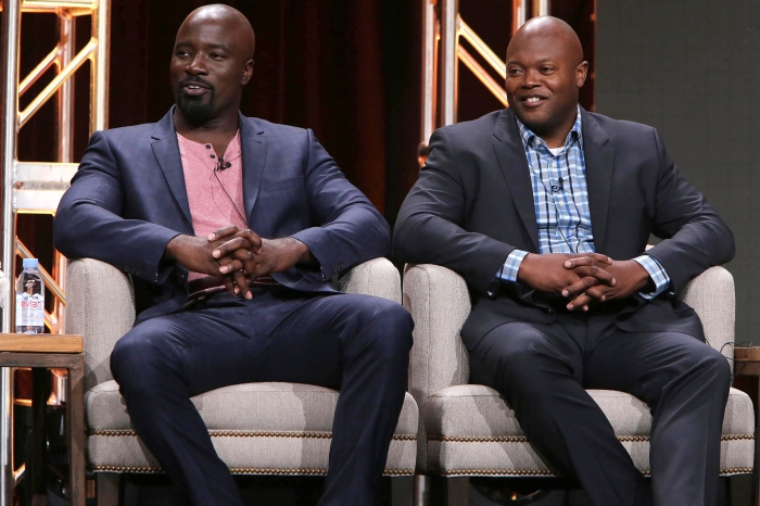 "Mike Colter and Executive Producer Cheo Hodari Coker speak on panel for ""Marvel's Luke Cage"" at Netflix 2016 Summer TCA at the Beverly Hilton Hotel on Wednesday, July 27, 2016, in Los Angeles."