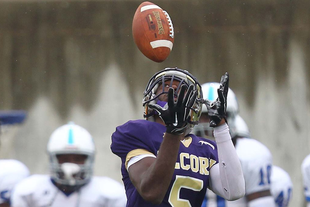 Charles Hughes (5) of Alcorn State University.