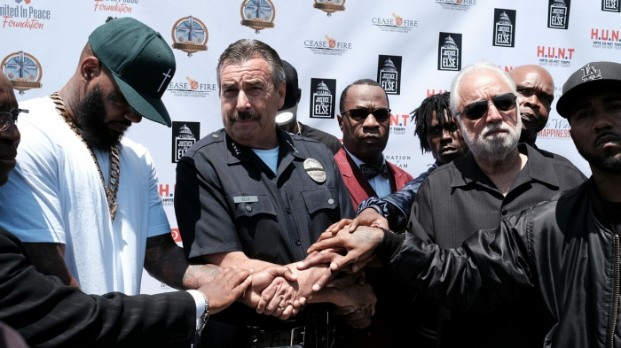 Few hundred attend rapper's gang summit in Los Angeles