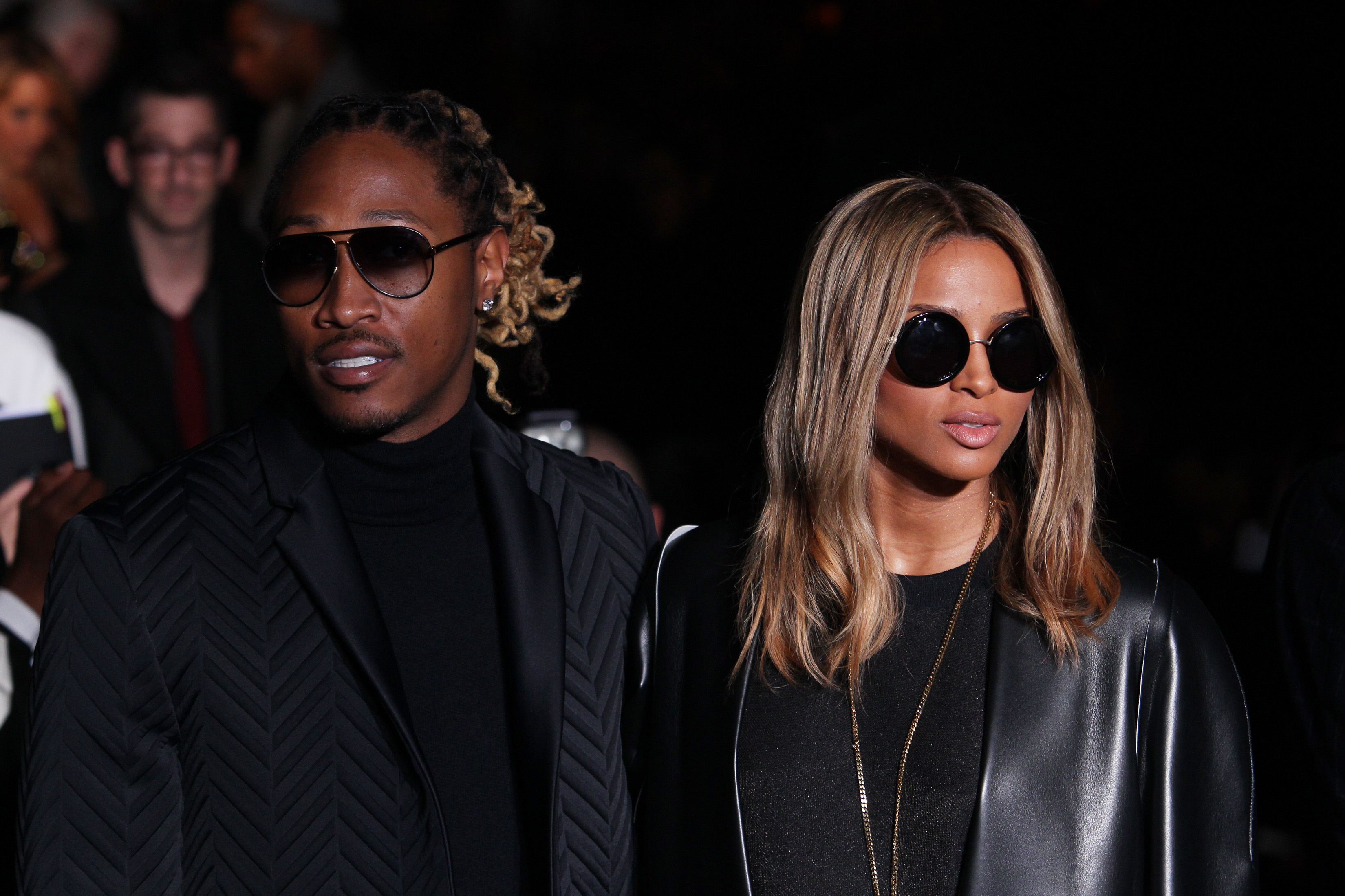MILAN, ITALY - JANUARY 12: Future; Ciara attend the Calvin Klein Collection show as a part of Milan Fashion Week Menswear Autumn/Winter 2014 on January 12, 2014 in Milan, Italy.