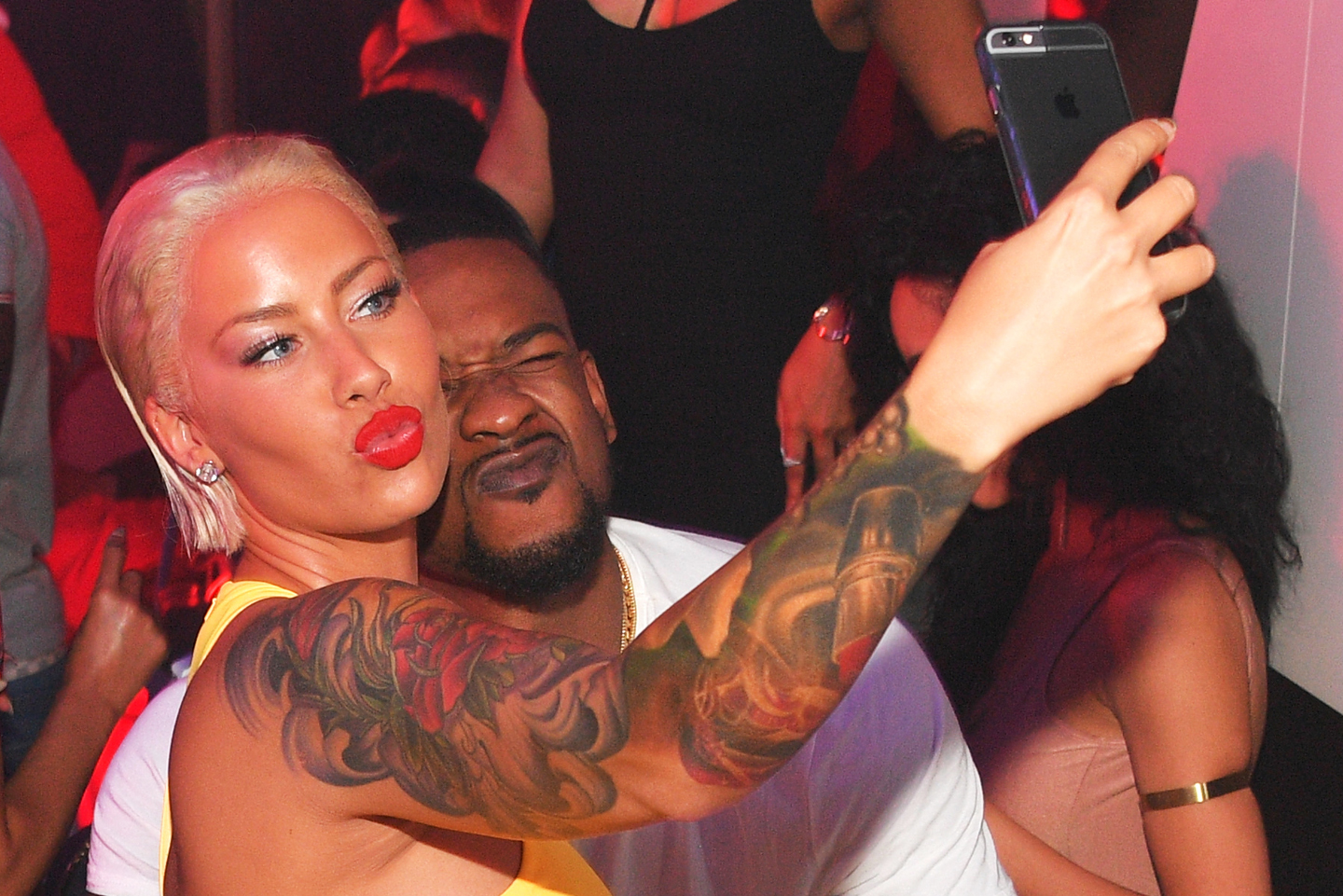 Terrence Ross and Amber Rose attend The Memorial Weekend Affair at Gold Room on May 30, 2016 in Atlanta, Georgia.