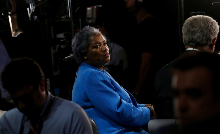 Interim Chair of the Democratic National Committee Donna Brazile waits on the floor on the first day of the Democratic National Convention at the Wells Fargo Center in Philadelphia, Pennsylvania, USA, 25 July 2016.