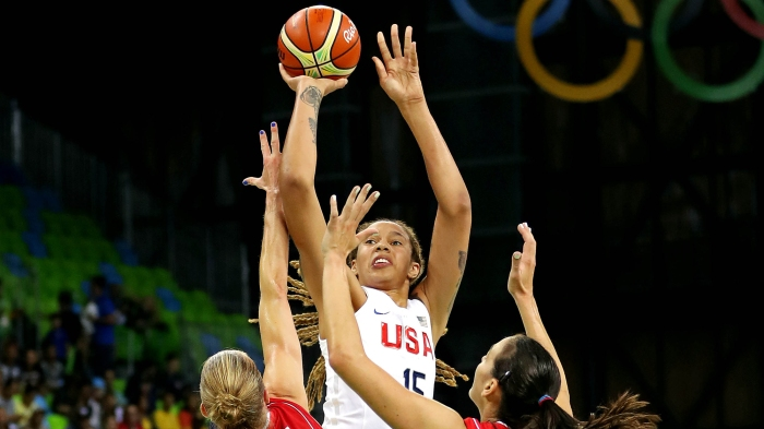 Olympics: Basketball-Women's Team-Preliminary Round Group B-USA vs SRB
