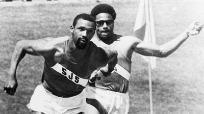 John Carlos (left) and Ronnie Ray Smith (right).