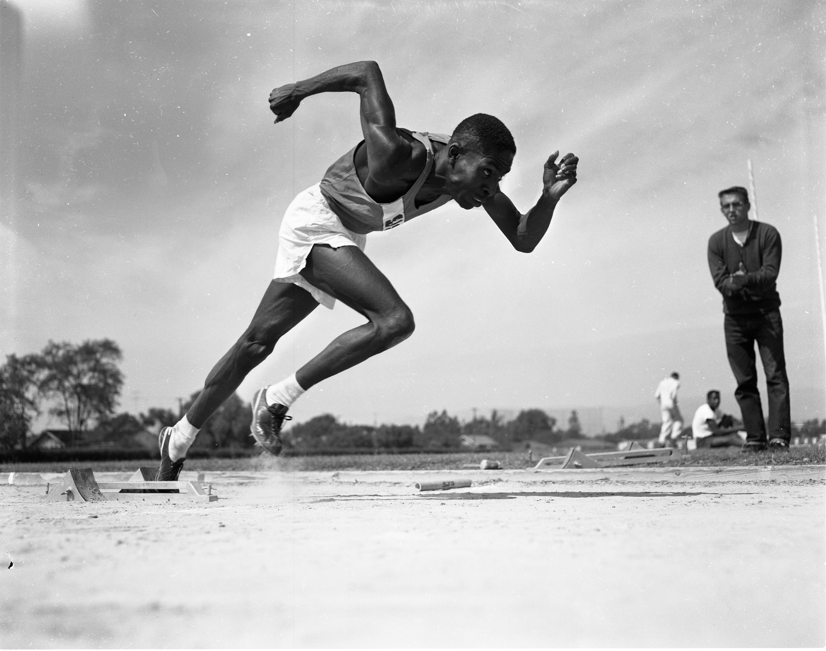 Lang Stanley, c. 1956. Stanley was a 1953 NCAA champion in the 880 yard run