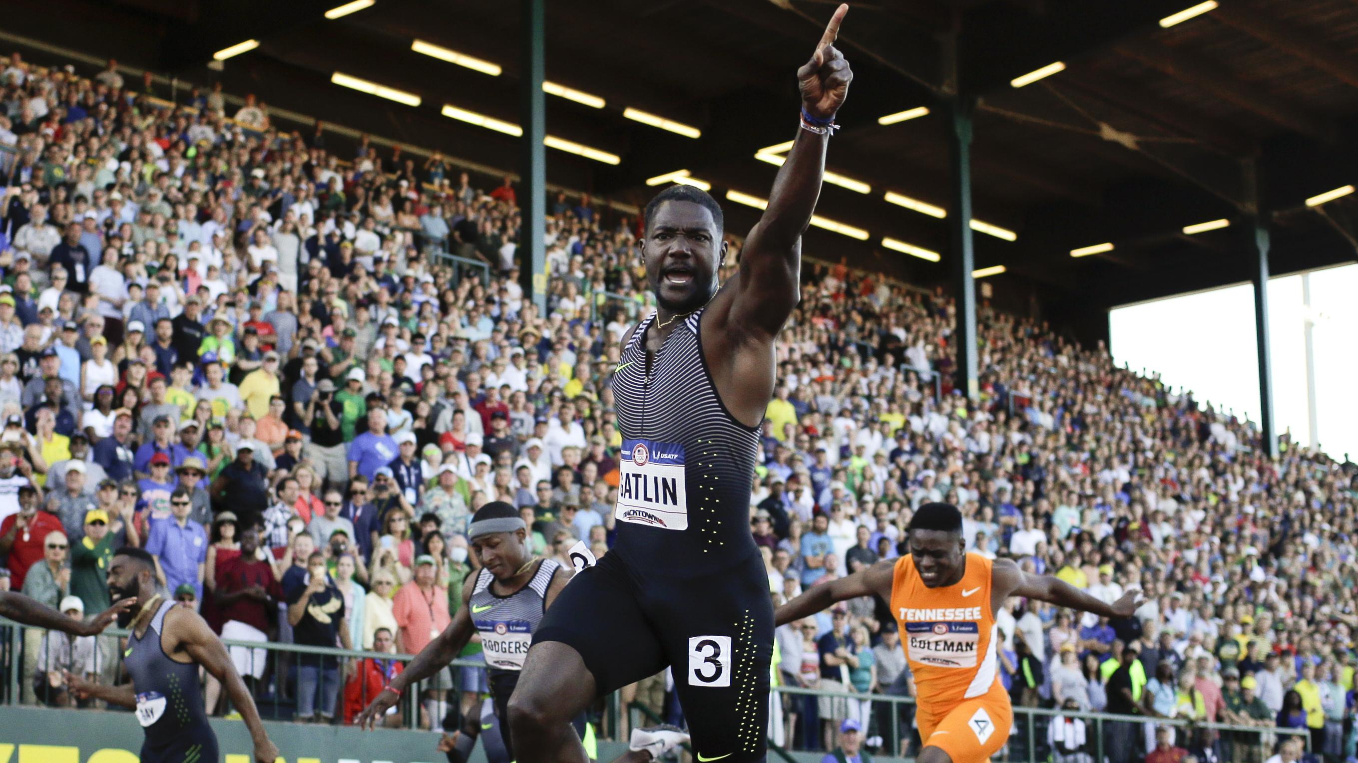 GATLIN_2016_APTOPIX US Track Trials Athletics