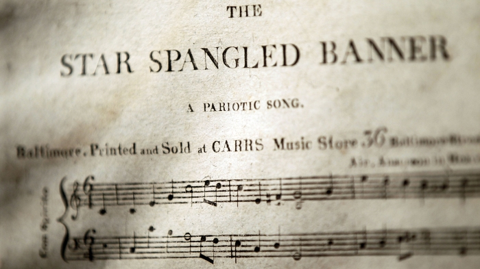 Let's take the national anthem literally, and the songwriter