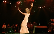 Whitney Houston Performing At Paris Bercy Concert Hall