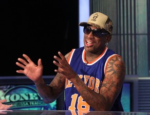 Dennis Rodman Visits The FOX Business Network