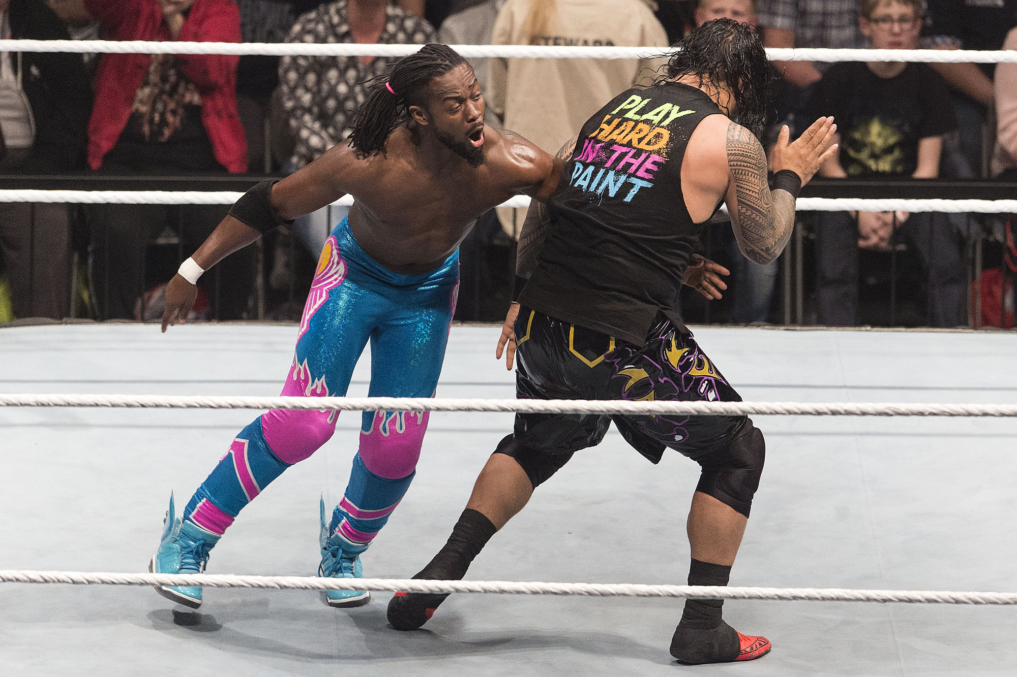 The New Day Competes In Ring Against Usos At Road To WrestleMania Lanxess Arena On February 11 2016 Cologne Germany