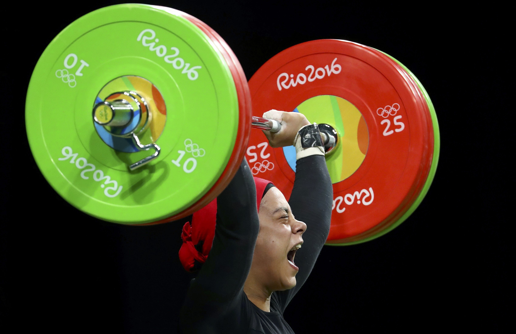 Sara Ahmed (EGY) of Egypt competes.