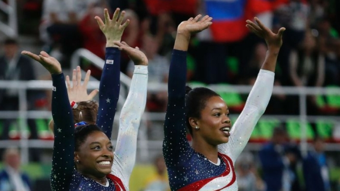 Simone Biles and Gabby Douglass