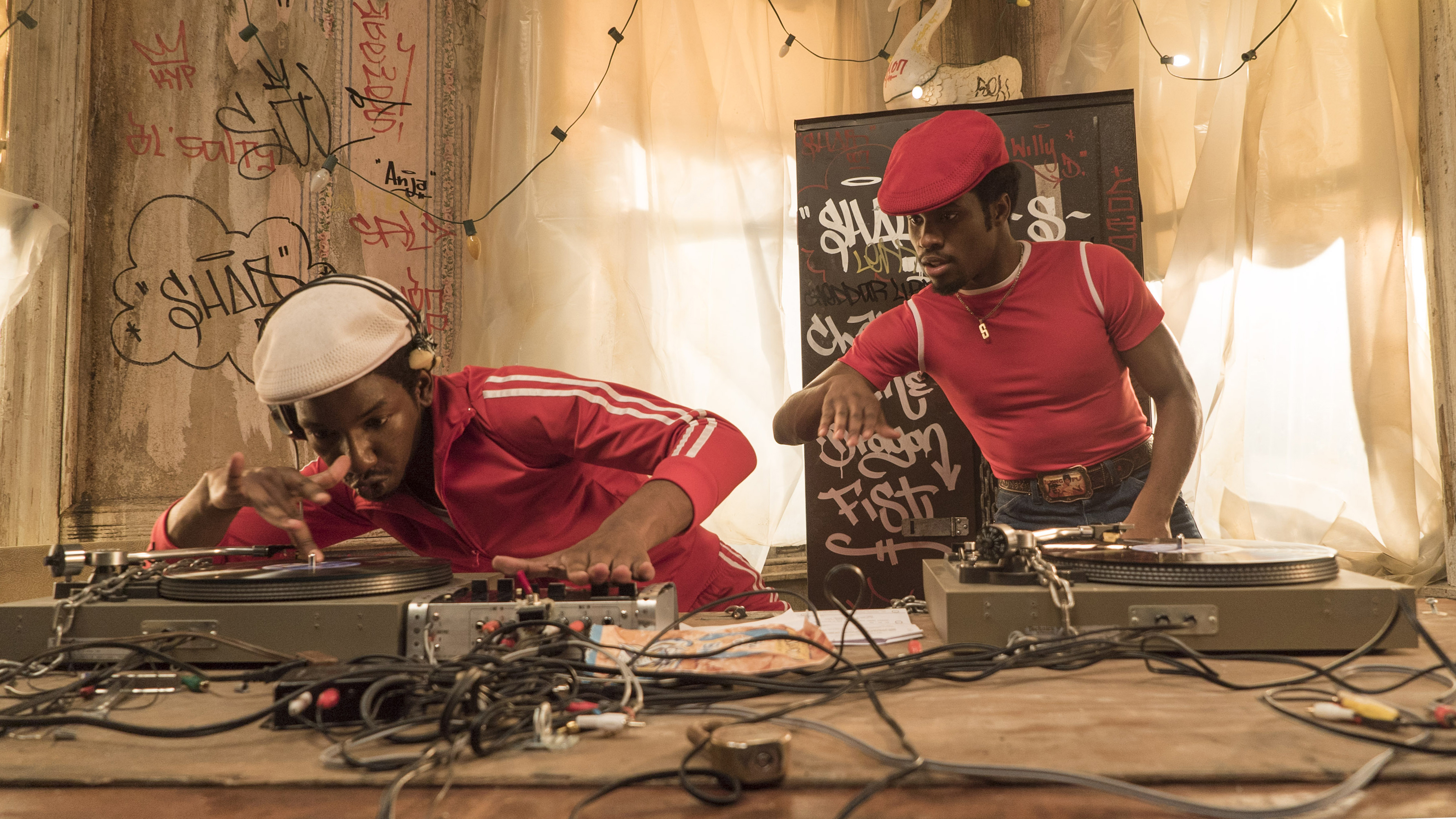 From left: Mamoudou Athie as Grandmaster Flash and Shameik Moore as Shaolin Fantastic in 'The Get Down.'