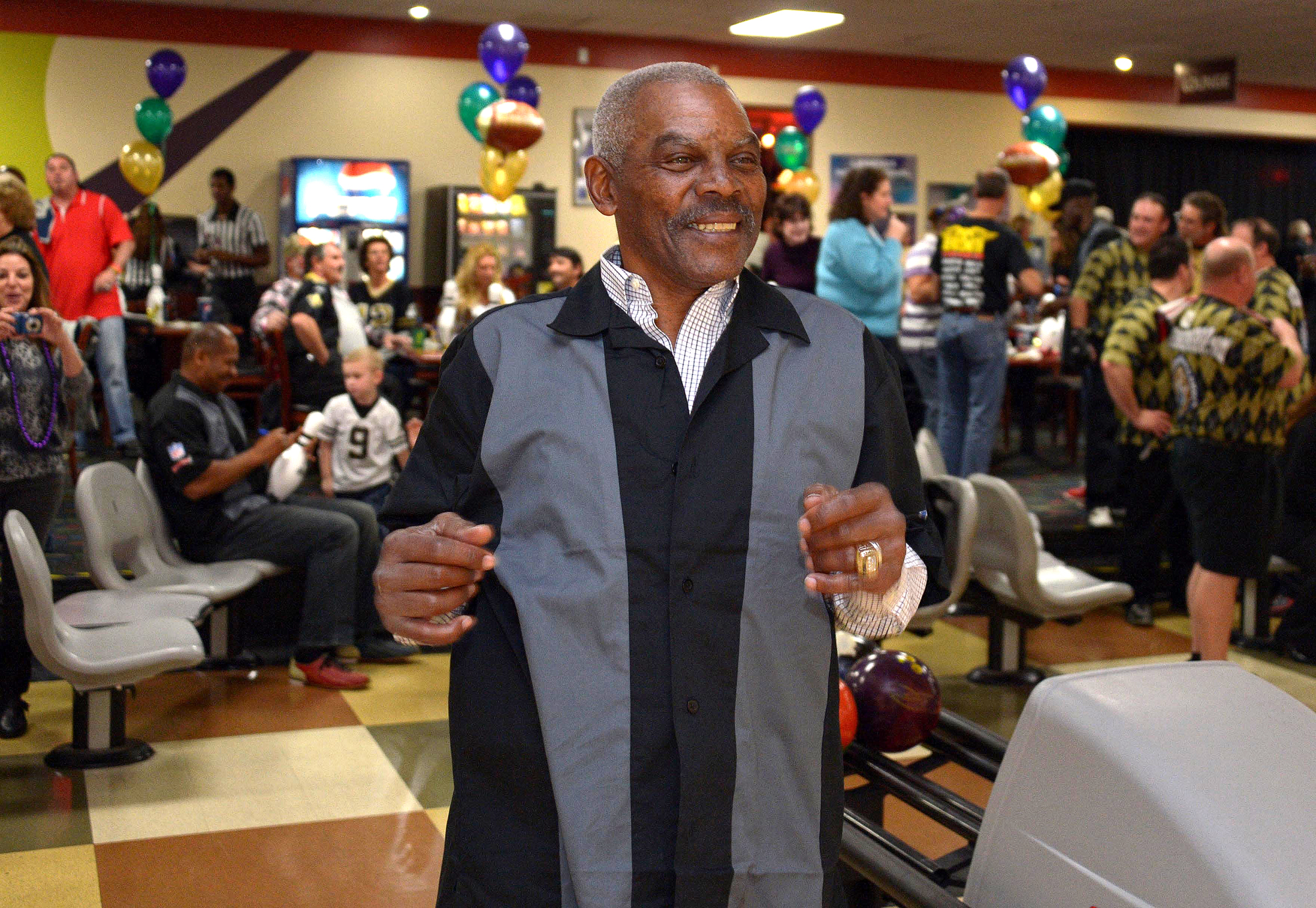 Marlin Briscoe at the eighth annual NFL Foundation Celebrity Bowling Classic at the AMF All-Star Lanes.