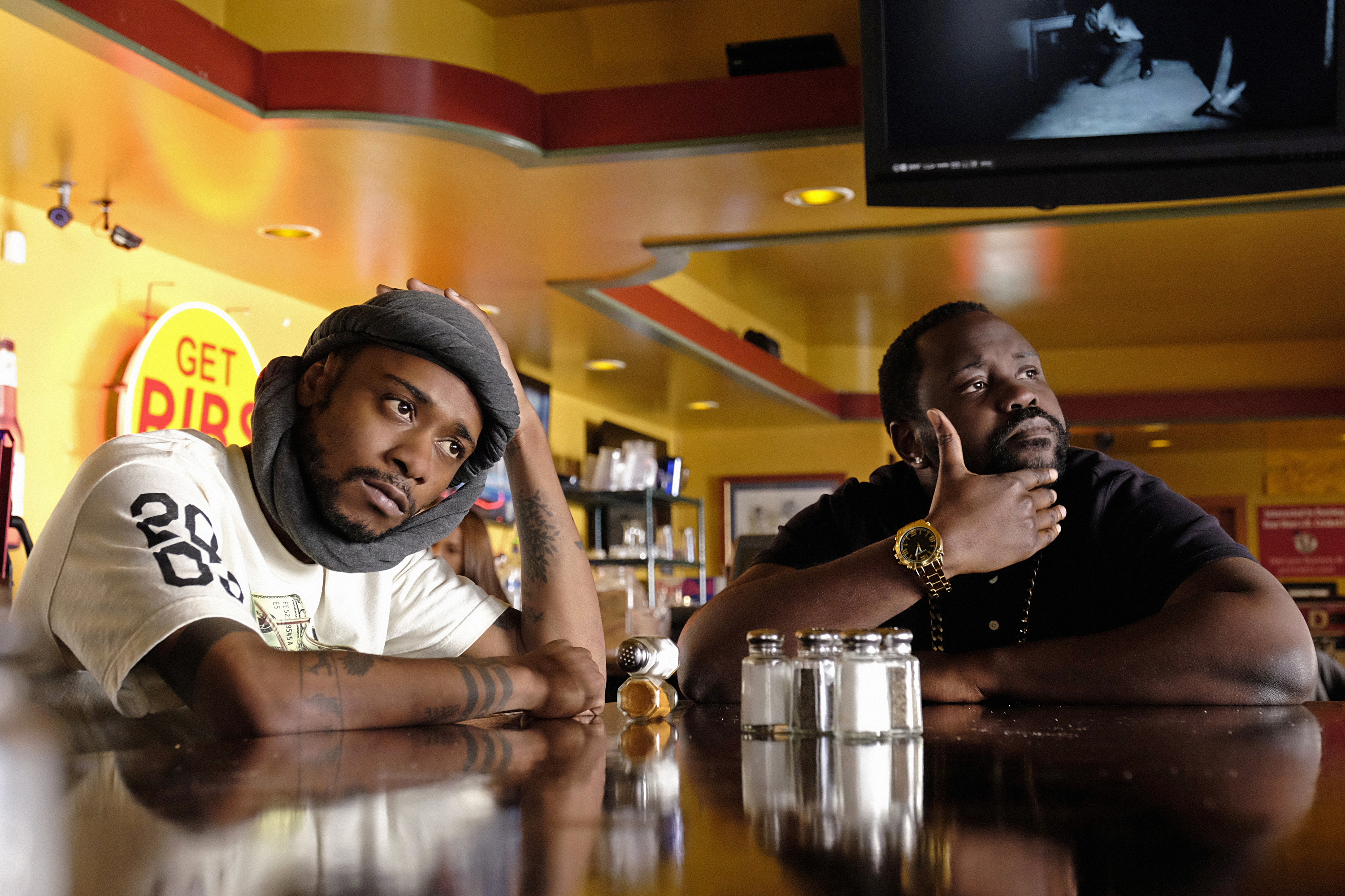 ATLANTA -- ÒStreets On LockÓ -- Episode 102 (Airs Tuesday, September 6, 10:30 pm e/p) Pictured: (l-r) Keith Stanfield as Darius, Brian Tyree Henry as Alfred Miles.