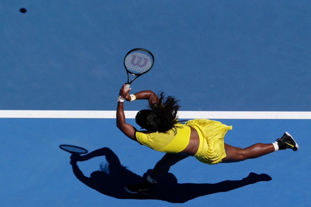 Serena Williams of the US in action against Camila Giorgi of Italy during their first round match at the Australian Open Grand Slam tennis tournament in Melbourne, Australia, 18 January 2016. The Australian Open tennis tournament runs from 18 to 31 January 2016.