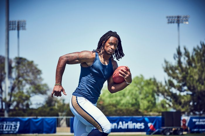 Todd Gurley of the Los Angeles Rams on August 27, 2016 at the Rams' practice facility in Irvine, California.