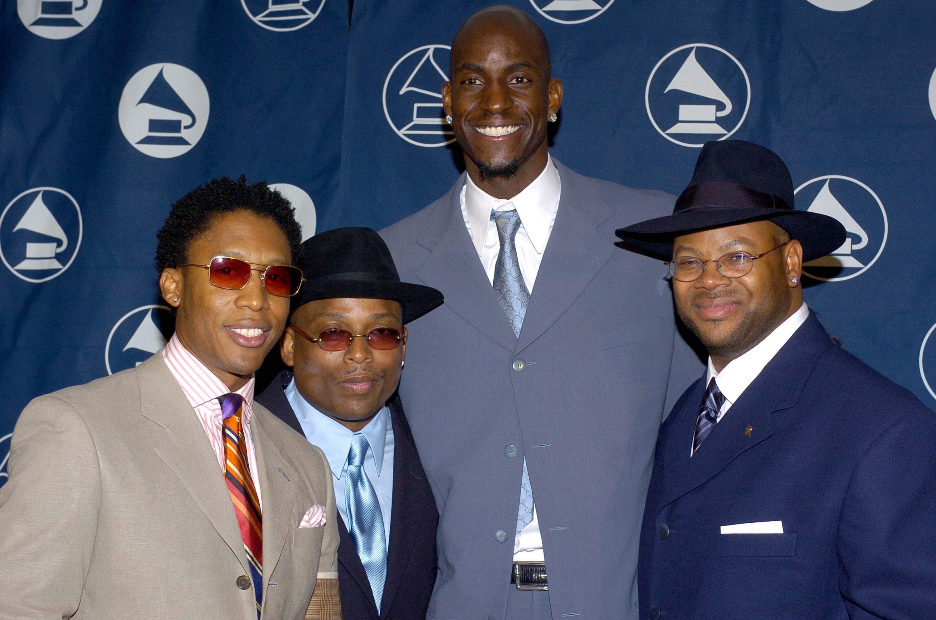 Raphael Saadiq, Terry Lewis, Kevin Garnett and Jimmy Jam